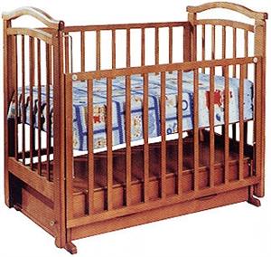 Кроватка Алина Можга( Красная звезда) маятник поперечного качания