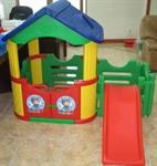 Двойной игровой домик с горкой Happy Box JM-802C