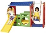 Игровой центр Дом с горкой и качели Haenim toy DS-703