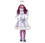Карнавальный костюм Снегурочка-хрустальная код 182