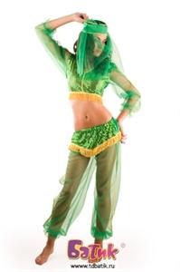 Карнавальный костюм Жасмин Зеленая код 6005-3