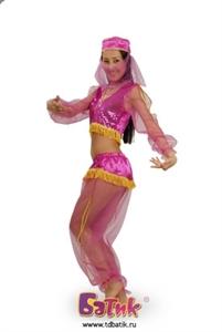 Карнавальный костюм Жасмин розовая код 6005-2