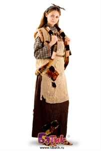 Карнавальный костюм Баба-Яга код 1101(Бархат и порча)