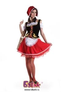 Карнавальный костюм Красная шапочка (бархат) код 1106