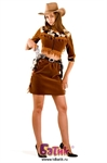 Карнавальный костюм Ковбойка (бархат) код 1116
