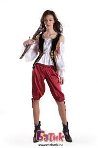 Карнавальный костюм Пиратка(бархат)код 1110
