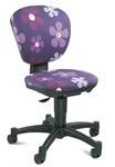 Детское компьютерное кресло Цветы на синем