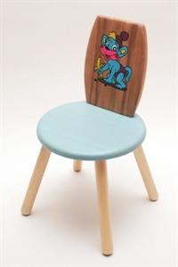 Детский стульчик  с деревянной спинкой ( ручная роспись)