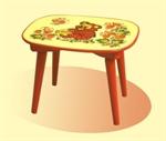 Детская скамейка с холодной росписью арт. 82030