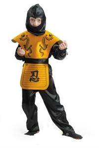 Карнавальный костюм Ниндзя желт. - 7028-1