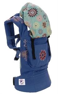 Рюкзачок-переноска Органик Голубой с вышивкой/звезды Артикул: BC7TOES
