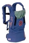 Рюкзачок-переноска Органик Голубой с вышивкой. Артикул: BC7TOESO