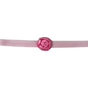 Повязка Розовая Сатиновая Роза