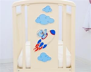Кроватка Angela Bella Жаклин Мишка на ракете - маятник