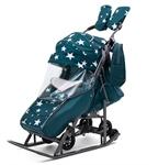 Санки-коляска Pikate Звезды аквамарин