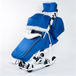 Санки-коляска Pikate Снеговик василек