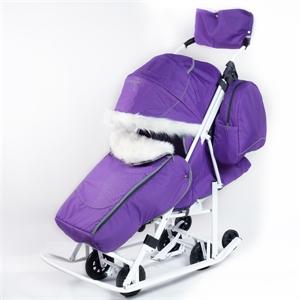 Коляска-санки Pikate Снеговик фиалка