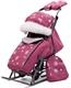 Коляска-санки Pikate Снежинки малина
