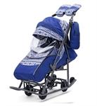 Санки-коляска Pikate Скандинавия синий