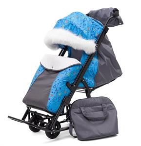 Санки-коляска Pikate Зоопарк Compact серый