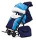Санки-коляска Pikate Зоопарк Compact темно-синий