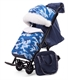 Санки-коляска Pikate Military Compact синий