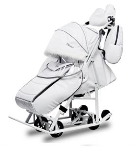 Санки-коляска Pikate Арктик Белый