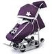 Санки-коляска Pikate Toy Пурпурный