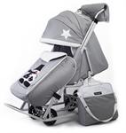 Санки-коляска Pikate Toy Серый