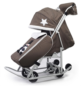 Санки-коляска Pikate Toy Оливковый
