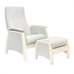 Кресло для кормления+пуф Milli Sky Light Grey