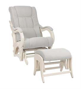 Кресло для кормления+пуф Milli Style Light Grey