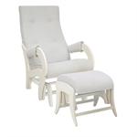 Кресло для кормления+пуф Milli Ice Light Grey