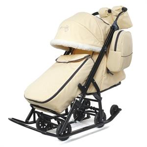 Санки-коляска Pikate Снеговик бежевый