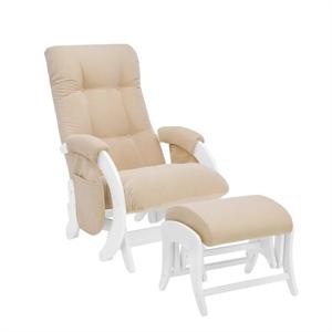 Кресло для кормления+пуф Milli Smile дуб молочный/Verona Vanilla